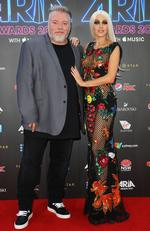 Kyle Sandilands and Imogen Anthony arrive on the red carpet for the 31st Annual ARIA Awards 2017 at The Star on November 28, 2017 in Sydney, Australia. Picture: Getty