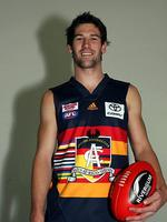 """<p><span>Adelaide 2006</span><br /> <span>Heritage round has always proved a challenge for the Crows, given they were born in 1991. This """"licorice all-sorts'' guernsey, featuring the colours of the 10 SANFL clubs from the 1980s, was initially knocked back by the AFL in 2003. See? Sometimes the AFL gets it right.</span></p>"""