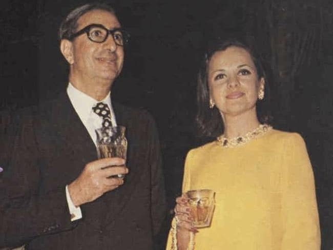 Reclusive ... Isaac Wakil and wife Susan in 1975. Picture: Supplied
