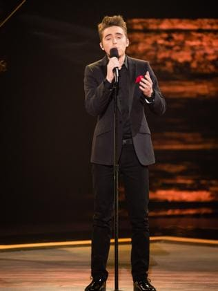 The Voice?s Harrison Craig from Team Seal Picture: Channel 9