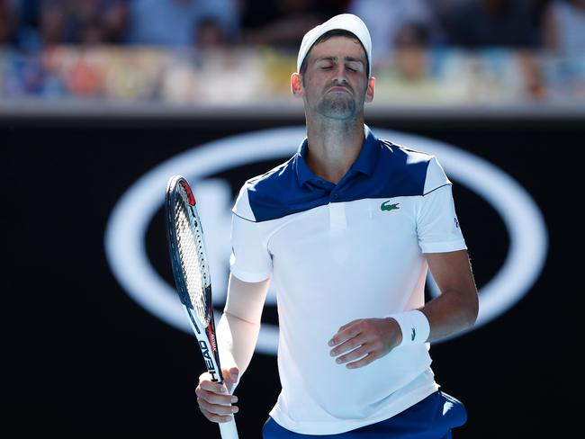 Djokovic was unhappy after his comfortable first round victory.