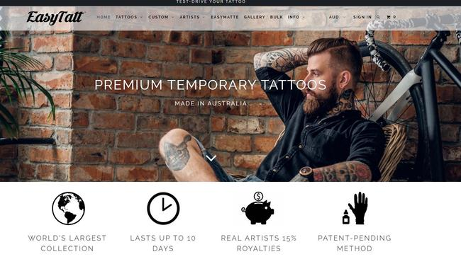 EasyTatt was founded by a 26-year-old Adelaide man, as a way to help people prevent getting tattoos they regret.
