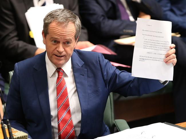 Stick to your guns ... Opposition Leader Bill Shorten says same-sex marriage will never be a reality with Tony Abbott as Prime Minister.