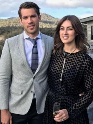 Alex Rance with wife Georgia at the wedding. Picture: Supplied/Instagram