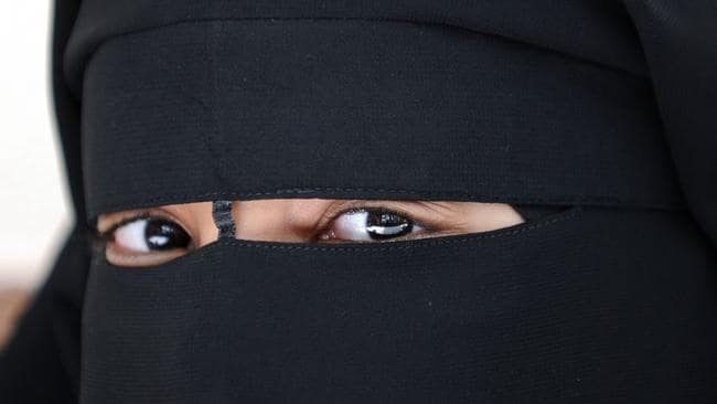 A Muslim woman wearing the niqab, a garment many people confuse with the burqa which is hardly worn in Australia.