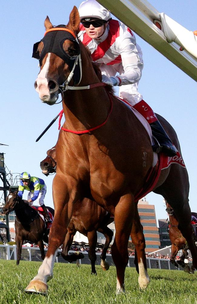Star Turn wins the Schillaci Stakes last spring. Picture: Mark Dadswell