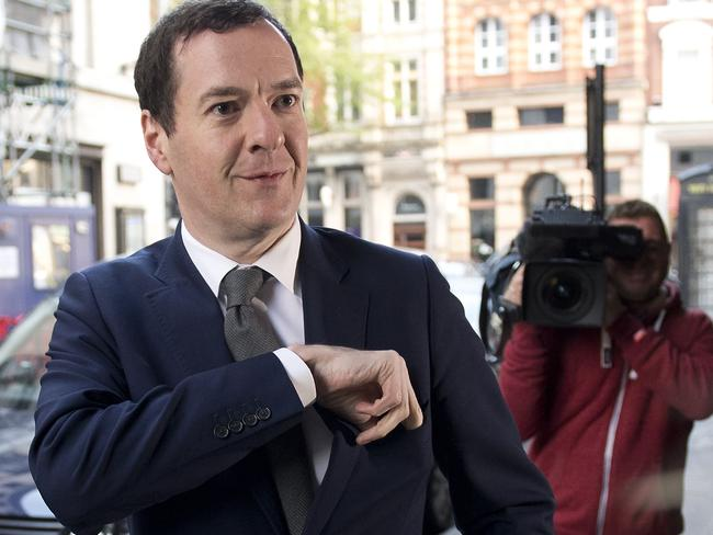 Britain's former Chancellor of the Exchequer, George Osborne, arrives at work as editor of the London Evening Standard newspaper in London. Picture: AFP