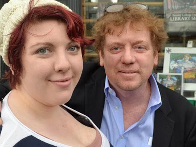 Haleigh pictured with her dad Thomas York, who paid for her tummy tuck, breast augmentation and excess skin removal. Picture: Caters