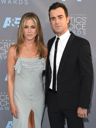 Actors Jennifer Aniston and Justin Theroux. Picture: Jason Merritt/Getty Images