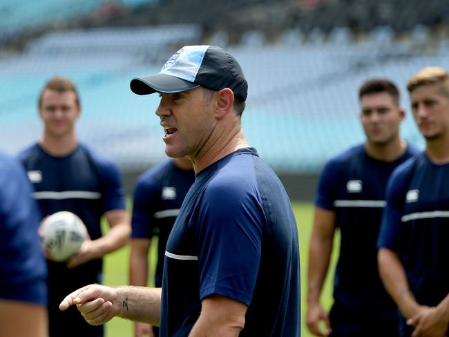 NSW Origin coach Brad Fittler is a 'Demon' fan. Picture: Toby Zerna