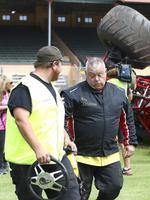Mr Christensen seems unshaken after the crash. Picture: Sarah Reed