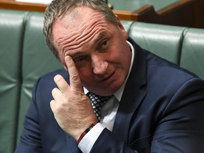 Barnaby Joyce has reportedly pleaded for 'more time' from Nationals colleagues. Picture: Lukas Coch/AAP