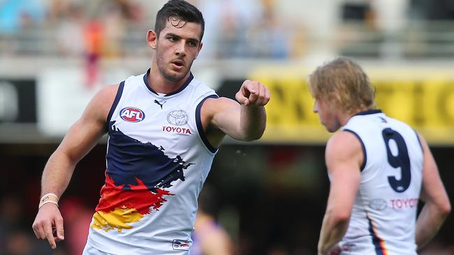 Taylor Walker is in imposing form up forward for the Crows.