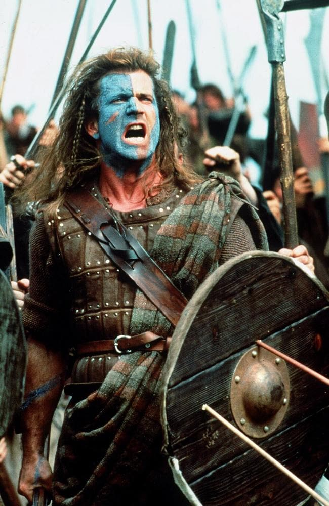 Mel Gibson in a scene from  <i>Braveheart.</i>