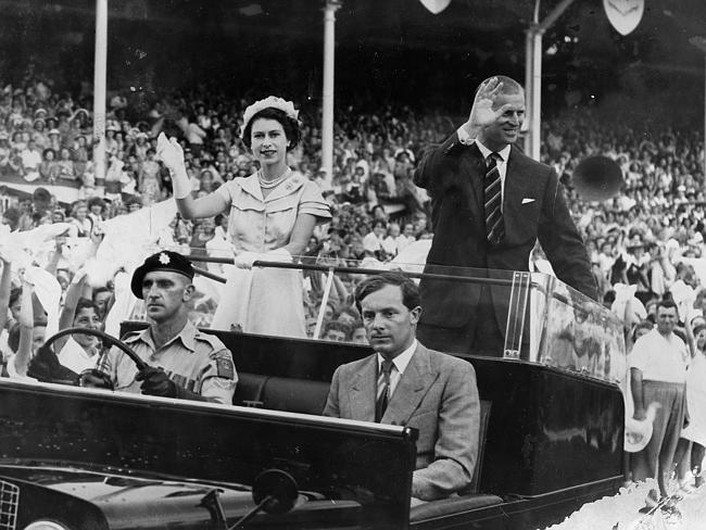 Queen Elizabeth and husband Phillip had an arduous 58 day Australian tour. Picture: Ted H