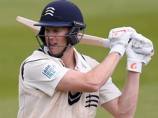 TAUNTON, ENGLAND - APRIL 27: Middlesex batsman Adam Voges picks up some runs during day two of the Division One LV County Championship match between Somerset and Middlesex at The County Ground on April 27, 2015 in Taunton, England. (Photo by Stu Forster/Getty Images)