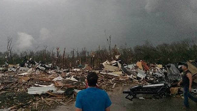 A powerful storm system rumbled through the central and southern United States on Sunday,