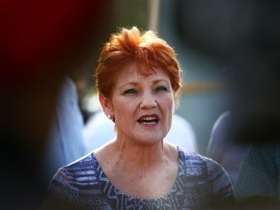 SUNSHINE COAST, AUSTRALIA - SEPTEMBER 21: One Nation Senator Pauline Hanson speaks to the media during a barbeque in Buderim on September 21, 2017 in Sunshine Coast, Australia. Under the One Nation proposal, police officers would be allowed to use their service pistols outside of mandatory practice sessions to improve shooting skills. Police officers would also be allowed to take their firearm home either side of the training provided they had an approved firearms safe at their residence. Senator Pauline Hanson also announced plans to lobby Federal Treasurer Scott Morrison to allow police officers to claim target practice ammunition as a tax deductible expense. (Photo by Lisa Maree Williams/Getty Images)