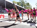 Undies run finish line. Picture: Bernard Humphres