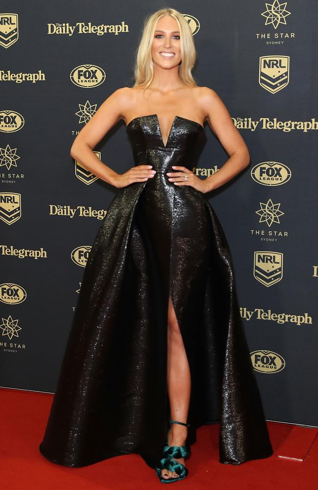 Phoebe Burgess arrives ahead of the 2017 Dally M Awards at The Star.