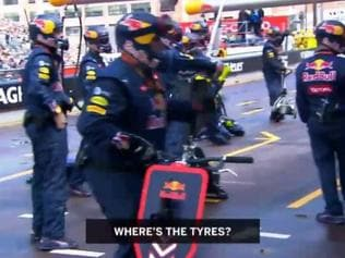 Unseen footage of Ricciardo's botched stop