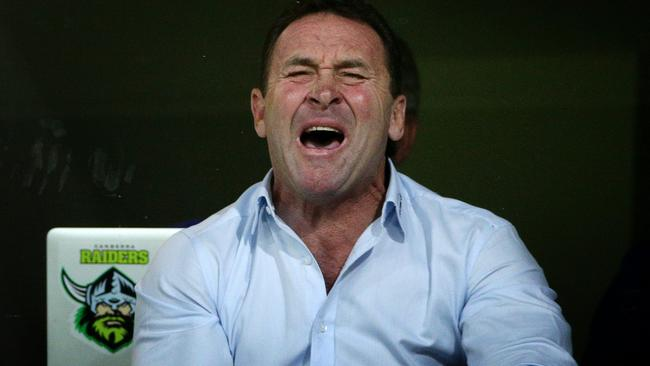 Ricky Stuart will be at the Raiders long-term, whether the fans like it or not. Pic: Colleen Petch