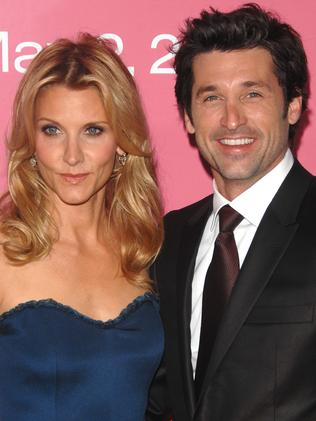 Split ... Patrick Dempsey and wife Jillian Fink. Picture: AP