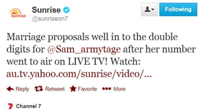 Viewers were quick to call Sam Armytage before she changed her mobile phone number.