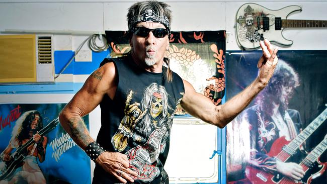 Territorian Norm Hawkins is set to take Canberra by storm at this year's Air Guitar Championships. Picture: MICHAEL FRANCHI