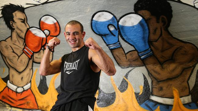 Boxer Sam Soliman at Dohertys Gym in Melbourne.