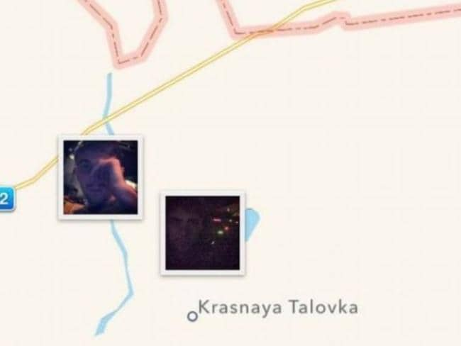 Instagram geotagging ... this map from Alexander Sotkin's Instagram aacount shows where he posted phots while allegedly in Ukraine. Picture: Instagram