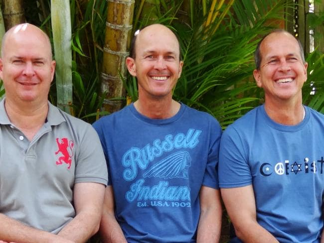 Brothers Michael (from left), Andre and Peter Greste are close.