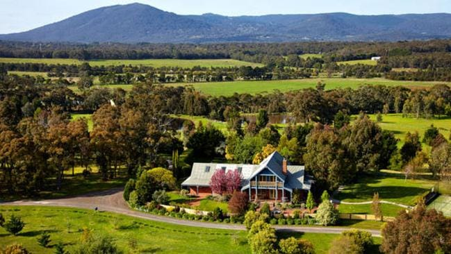 Lawson Lodge, Australia. Room to sleep 15 people and a secluded location are on offer within an hour of Melbourne. Picture: HomeAway.com.au