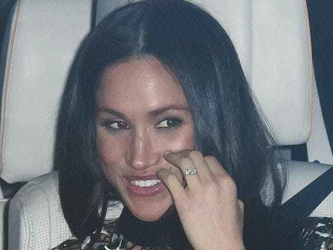 Markle's engagement ring also made an appearance. Picture: Shutterstock/Splash News