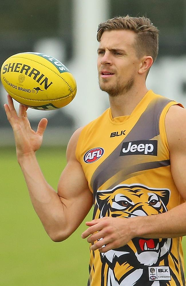 Brett Deledio will return from an achilles injury on Sunday. Photo by Scott Barbour
