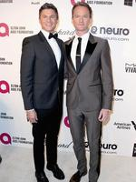 David Burtka and actor Neil Patrick Harris attend the 22nd Annual Elton John AIDS Foundation's Oscar Viewing Party. Picture: AFP