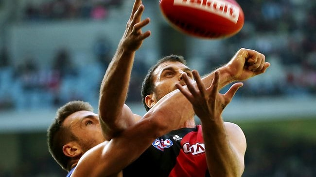 Fremantle is heavily into Essendon forward Scott Gumbleton. Picture: Colleen Petch