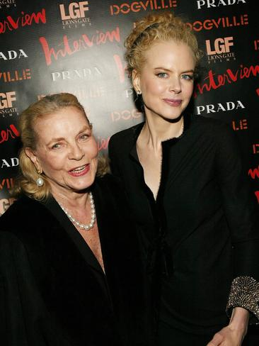 """Lauren Bacall and Nicole Kidman attend the """"Dogville"""" New York Premiere in New York City. Picture: AFP"""
