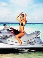 """Lara Bingle, in the Maldives. """"One of my fav things."""" Picture: Instagram"""