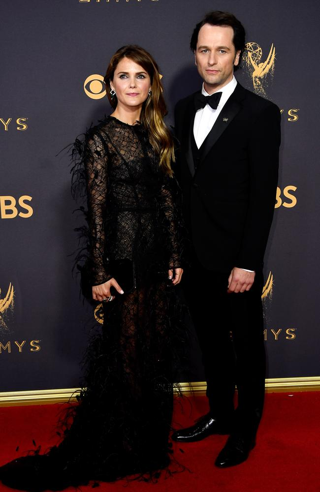 Keri Russell and Matthew Rhys attend the 69th Annual Primetime Emmy Awards at Microsoft Theater on September 17, 2017 in Los Angeles. Picture: Getty