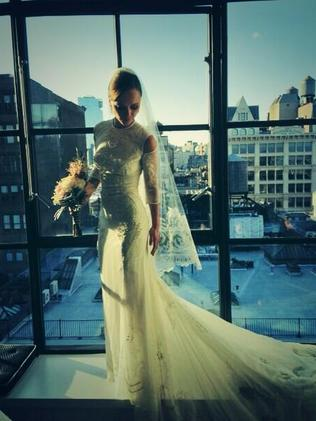 Christina Ricci shows off her Givenchy wedding gown