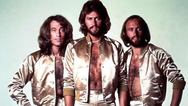 The Bee Gees .. Maurice , Barry and Robin Gibb circa 1970. Picture: Getty