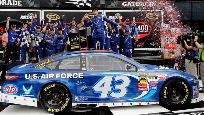 No. 43's last visit to victory lane came at Daytona in 2014 with Almirola at the wheel.