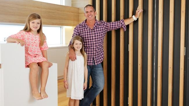 Brian Freeman with daughters Freya and Mia, sold their Clovelly dream home for $2.395 million.