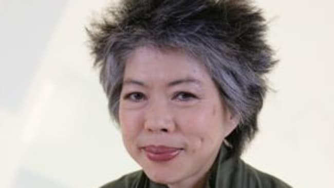 Good sport ...  <i>SBS World News</i> presenter Lee Lin Chin.