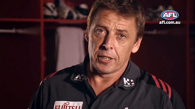 Mark Thompson is at his fierce best in the AFL ad.