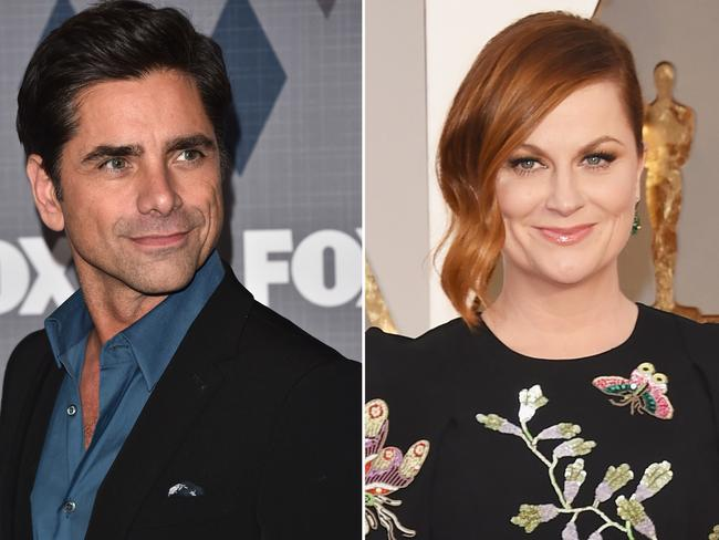 """After Amy Poehler separated from Will Arnett, the comedian went on what she thought might have been a date with John Stamos. """"I was at a restaurant [with Stamos], we were having dinner and I was like, 'Oh, maybe this is a date,' but I didn't know,"""" Poehler told Howard Stern. Poehler, who is curently dating Nick Kroll added, """"I think everything ended up the way it was supposed to end up."""" Picture: Getty Images"""