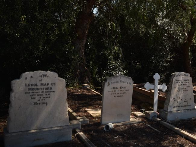 Australia's cemeteries have become an unlikely tourist attraction. Picture: AFP/Peter Parks