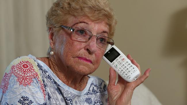 Shirley Wood was targeted by a phone scammer who pretended to be an ATO official. Picture: David Clark