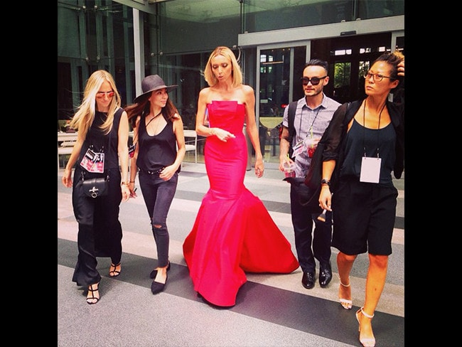 "Behind The Scenes Emmy Awards 2014... Television presenter Giuliana Rancic posts, ""And just like that...my 12th Emmy red carpet comes to an end. Such a blast!!! Thanks to all the celebs who brought their sense of humor to the red carpet and to my amaze glam squad. Love uuuu!"" Picture: Instagram"